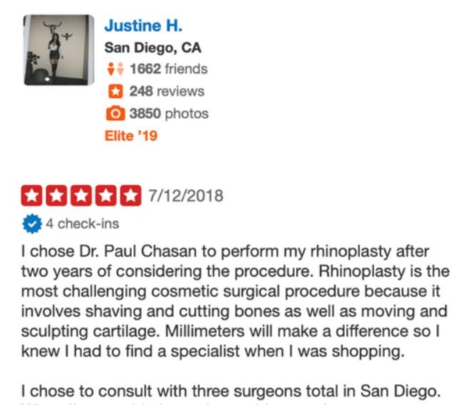 Justine H. Review
